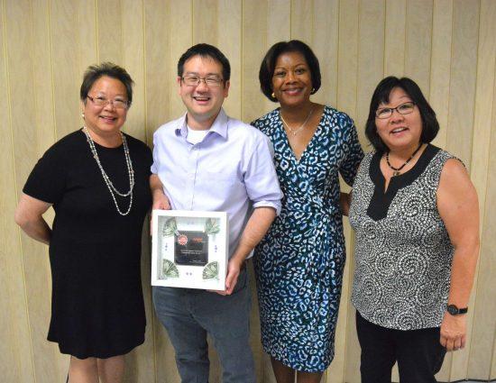 From left: Daphne Kwok, AARP vice president of multicultural leadership and AAPI audience; Ryan Kawamoto, Yu-Ai Kai executive director; Edna Kane-Williams, AARP senior vice president of multicultural leadership; Julie Kimiyo Hubbard, AARP AAPI Hero Award recipient.