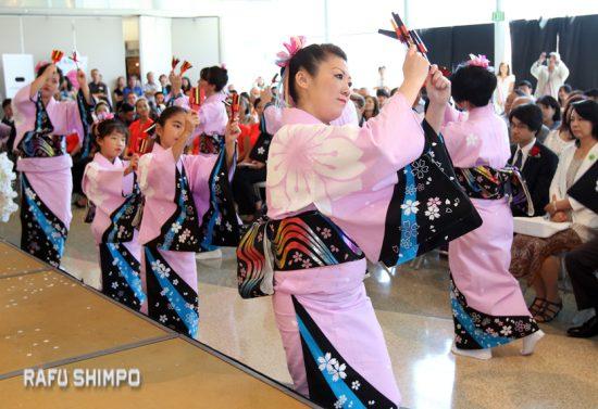 "Dancers perform ""So-Ran Matsuri,"" choreographed by Hanayagi Rokufukumi."
