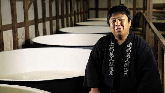 Fifth-generation sake maker Kosuke Kuji at his brewery. (© 2015 Wagamama Media LLC)