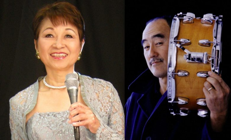 Jazz vocalist Ayako Hosokawa and drummer Akira Tana