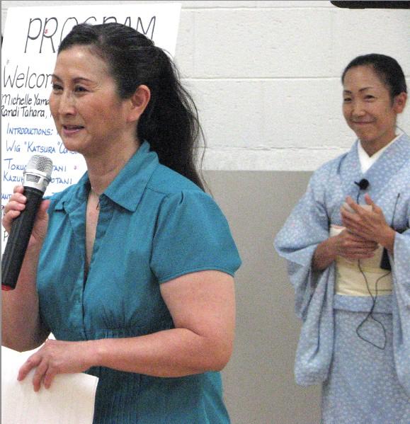 Randi Tahara of Nihon Buyo Kai and Bando HIdesomi, who served as translator.