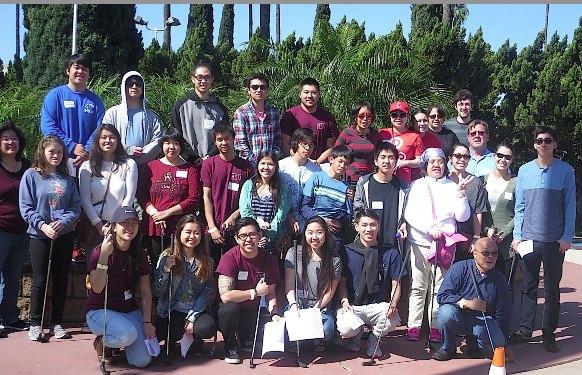 Rising Stars alumni and Cal State Fullerton students host the JSPACC members.