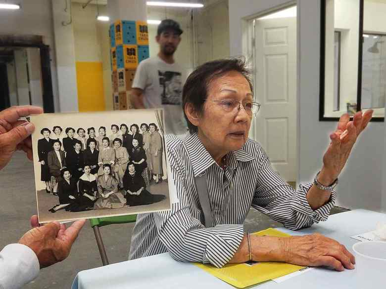 Aihara: Yae Aihara talks about a 1954 photo of the Nisei Veterans Women's Auxiliary that she contributed to Takachizu. The group the first women's organization in Little Tokyo with an office on First Street. (Photo courtesy of +Lab)