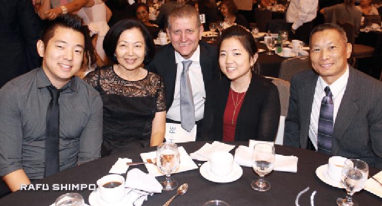 From right: Wing K. Fung, Jenny Hirata, Dr. Joseph Rosenthal from City of Hope (Jenny's doctor), Lynn Hosozawa and Miles Hirata, Lynn Hosozawa.