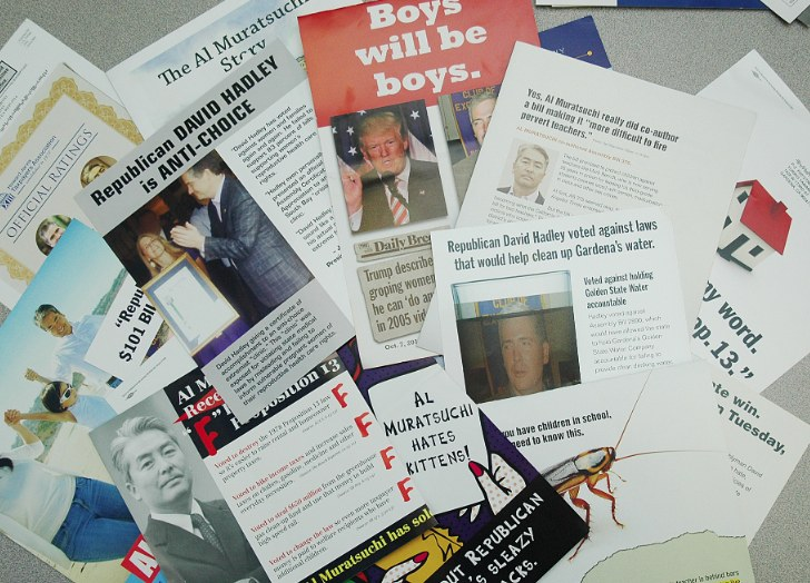 South Bay residents have been inundated with mailers from the Muratsuchi and Hadley campaigns and political action committees.