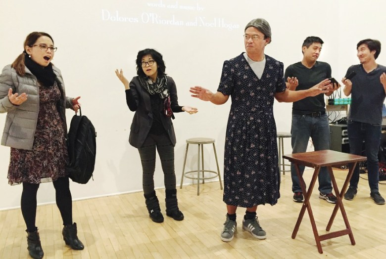 "A ""Gilmore Girls"" skit featured (from left) Helen Ota, Keiko Agena, Mike Palma, Aaron Shizuo Aoki and Will Choi."