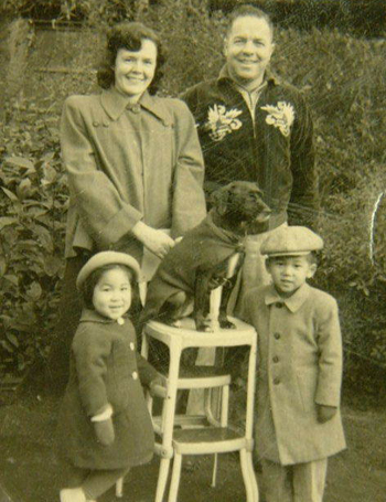 Joe and Esther Weber, with their adopted children Anna and Terry.