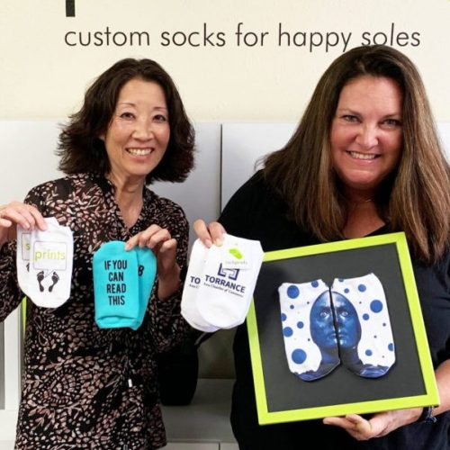 Sockprints_Founder Photo_Jann Middo and Hayley Mullin Co-Founders of Sockprints