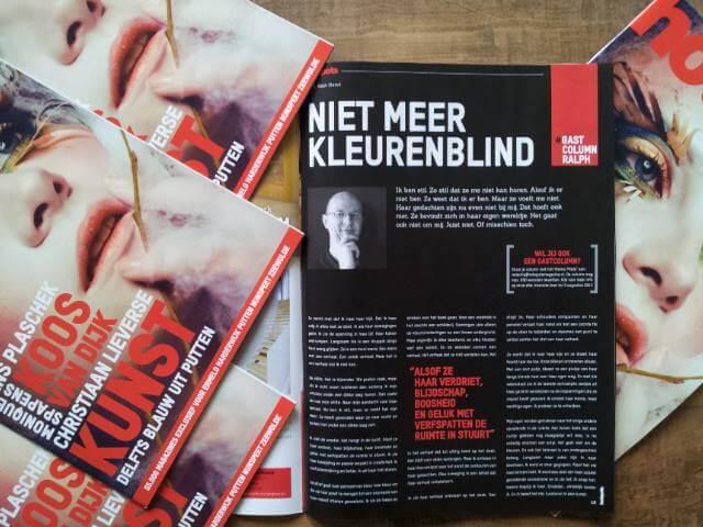 Column Niet Meer Kleurenblind in Hotspots Magazine