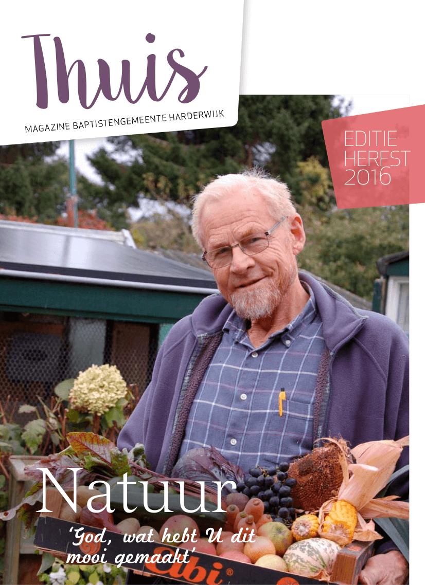 Cover van Thuis magazine van de Baptistengemeente Harderwijk