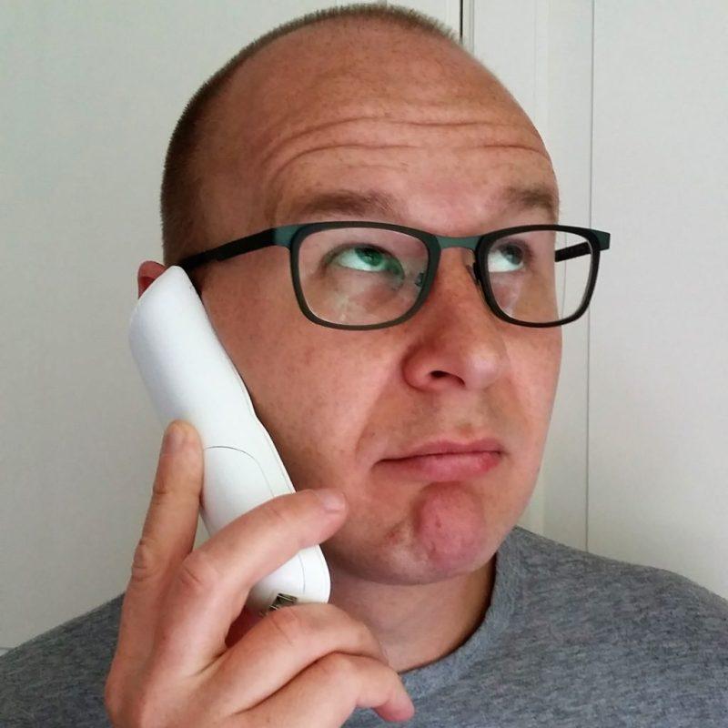 foto van het telefoongesprek voor het telefonisch weigeren van de slimme meter