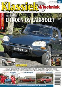 Cover van Klassiek en Techniek editie 238 van januari 2018 met een artikel van Ralph Stoove over de Ford Thunderbird Hardtop Flair Bird