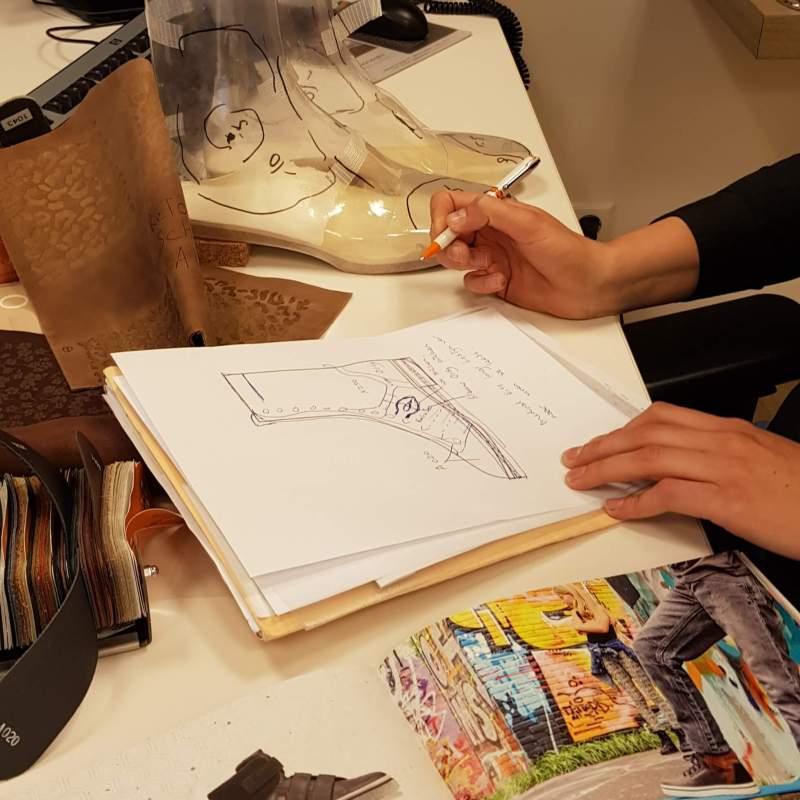 samen met schonagen orthopedische schoentechniek en mijn vrouw mijn nieuwe orthopedische schoenen ontwerpen