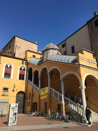 Stairs to the Palazzo Ducale from the Piazza Municipale (built 1481)