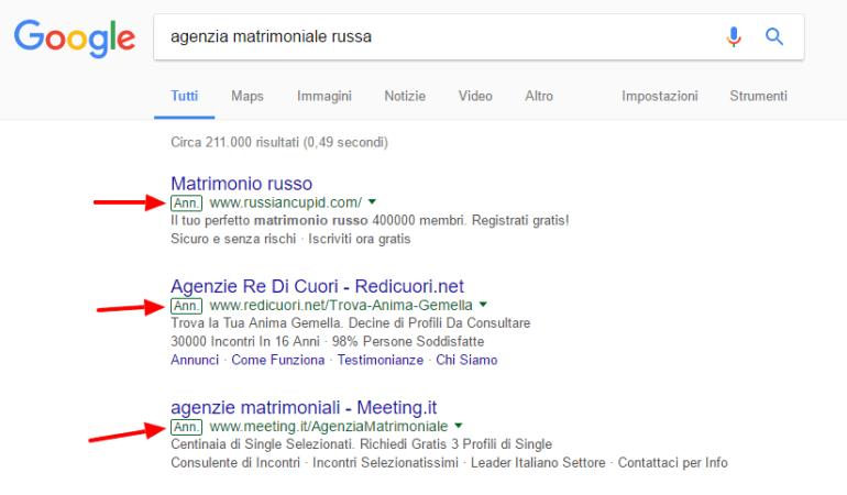 agenzia matrimoniale russa ricerca google