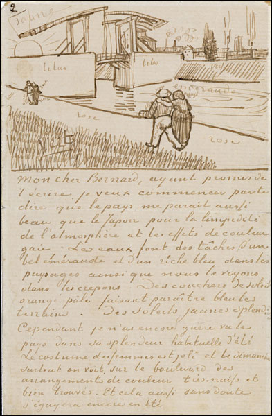 Van Gogh's letter