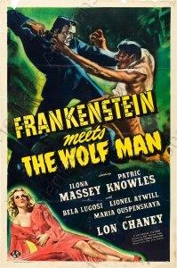 Frankenstein Meets the Wolf Man Movie Poster
