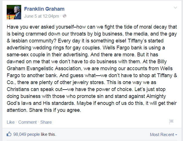 Where Would Jesus Bank | Why Franklin Graham doesn't understand Jesus