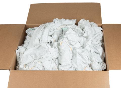 Recycled White Cotton Rags  Bulk 40 lb Box