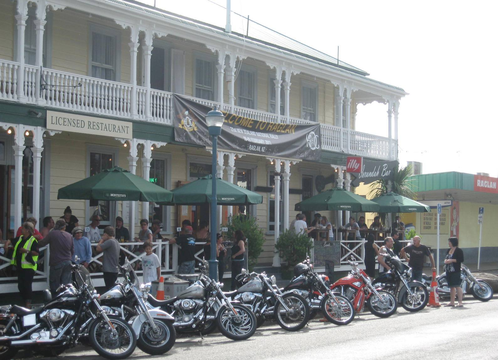 Image result for raglan town new zealand harley