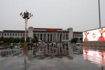 Les bâtiments style soviétique de la place Tiananmen