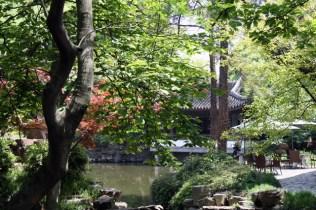 La maison de thé dans le parc du temple