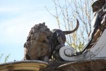 Détails de la fontaine du Buffet d'Eau dans le parc du Grand Trianon