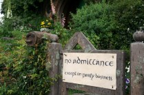 No admittance, except on party business