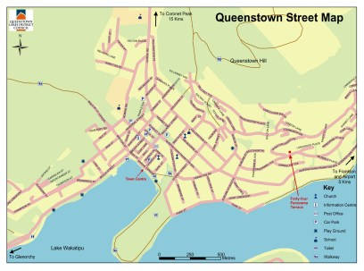 Carte de Queenstown