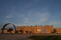 Le soleil couchant sur la Galerie des Glaces