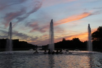 Coucher de soleil sur le Bassin d'Apollon