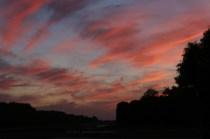 Coucher de soleil sur le parc de Versailles