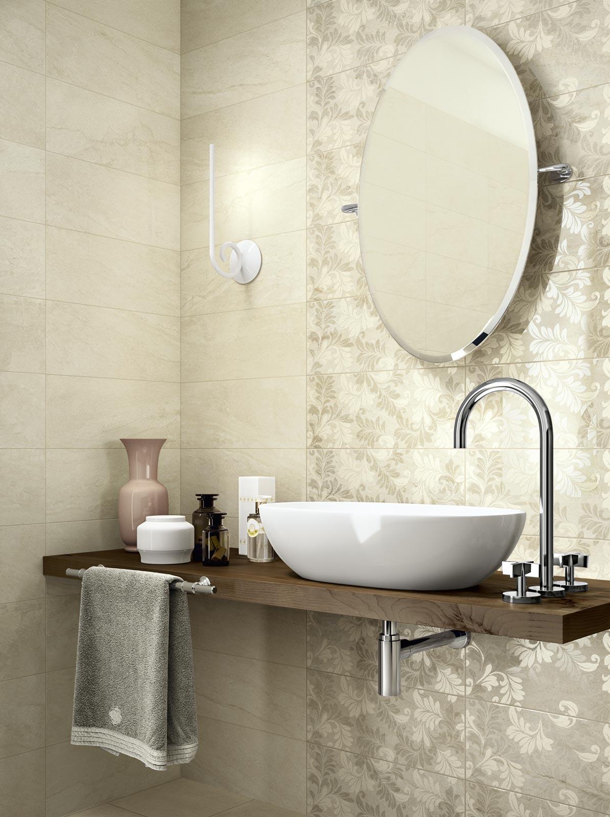 Bagno classico moderno rivestimento parete ceramiche cir