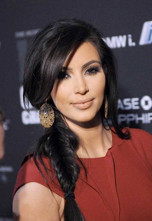 Kim Kardashian Fishtail Braid