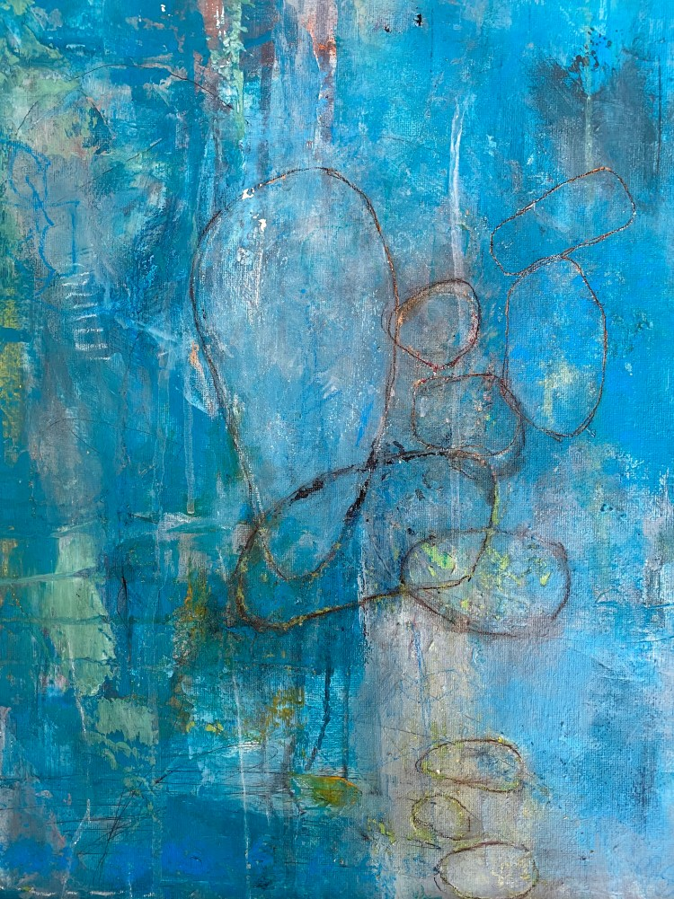 Cool Depths - an abstract painting by Nicola Young