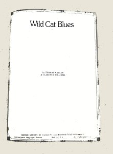 Wild Cat Blues (piano solo) PDF + MIDI