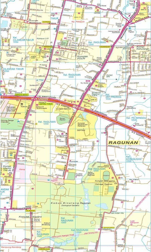 Peta Kelurahan Ragunan