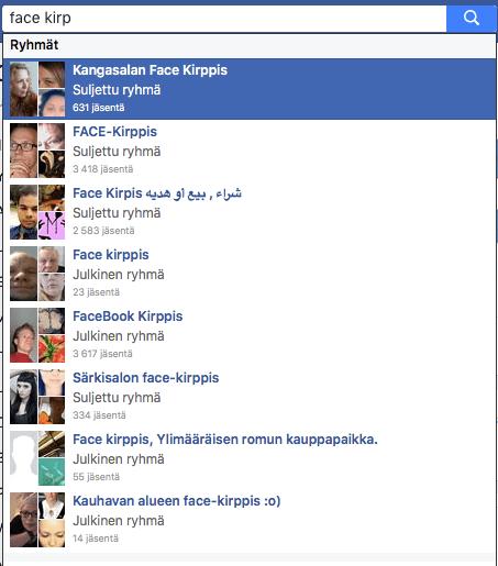 Facebookissa on paljon ryhmiä, joissa voit myydä tuotteita