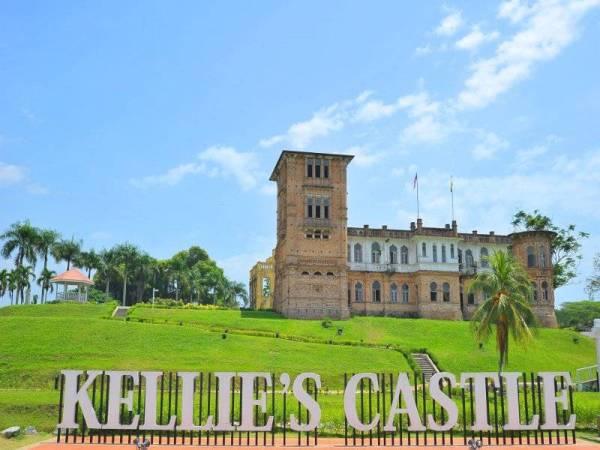 Kellie's Castle yang terletak di Batu Gajah, satu peninggalan bangunan bersejarah yang dibina oleh seorang peladang getah dari Britain, William Kellie Smith.