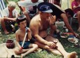 פיקניק בכינרת 1990: ציונה, דוד ויונתן כהן