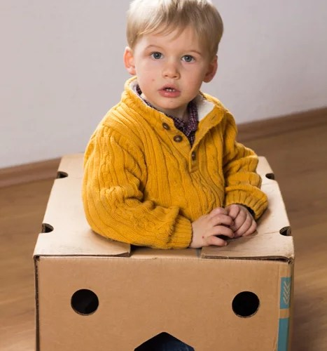 Wusstest du, dass Gideon sich seine Spielsachen selbst erfindet?