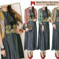 Blazer Batik + Maxi Semi Jeans