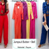 Jumpsuit Button + Belt