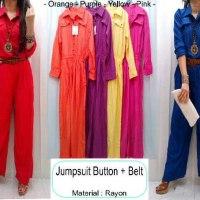 Jumpsuit Button + Belt