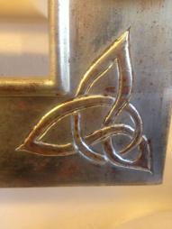 Weissgoldrahmen mit keltischem Ornament