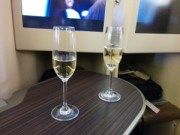Lanson Champagne on Etihad flight