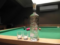 Royal Dragon Vodka on snooker table