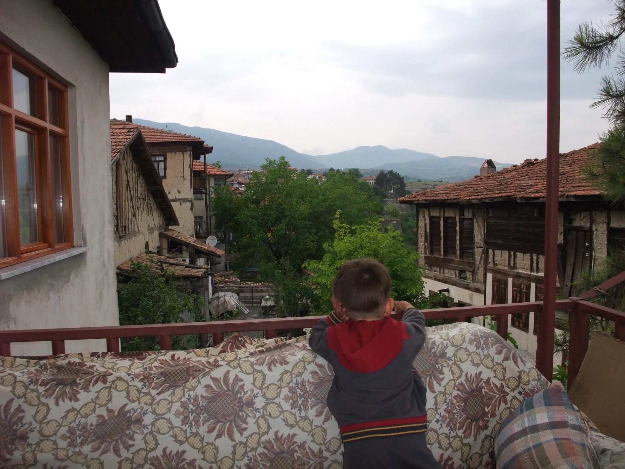 Safranbolu vom Balkon aus betrachtet