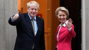 Von Der Leyen, Boris Johnson- Brexit negotiations
