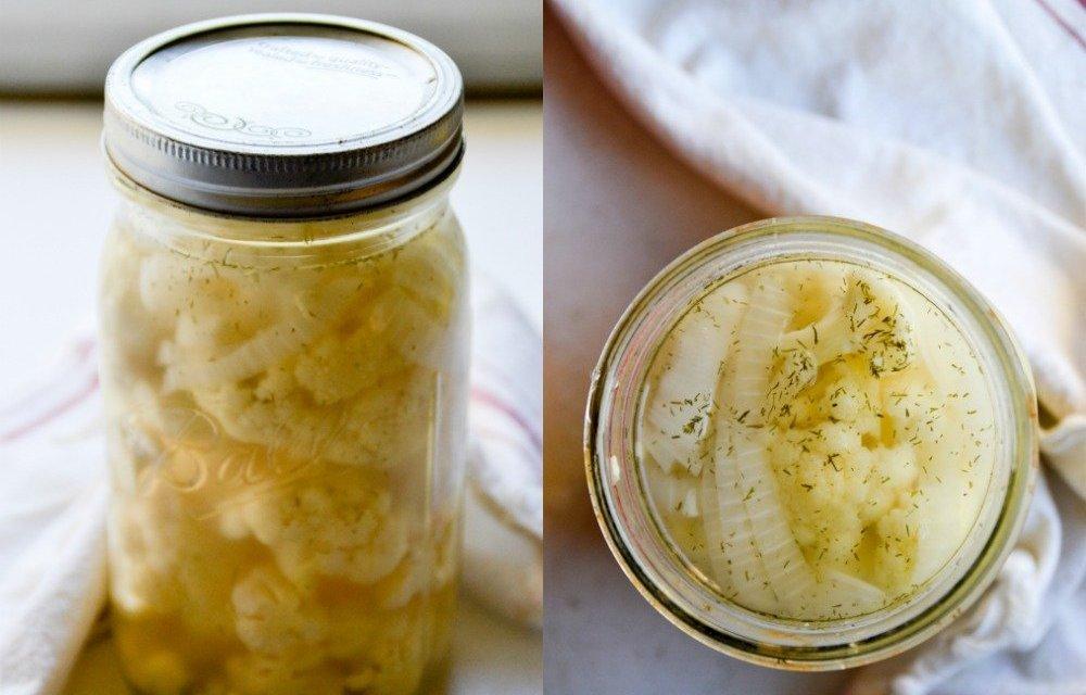 Lacto-Fermented Cauliflower